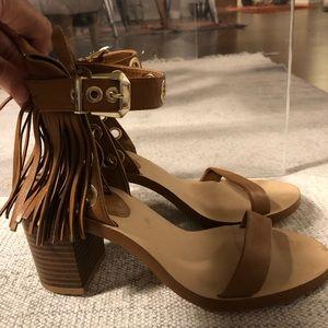 Zara fringe heels size 37
